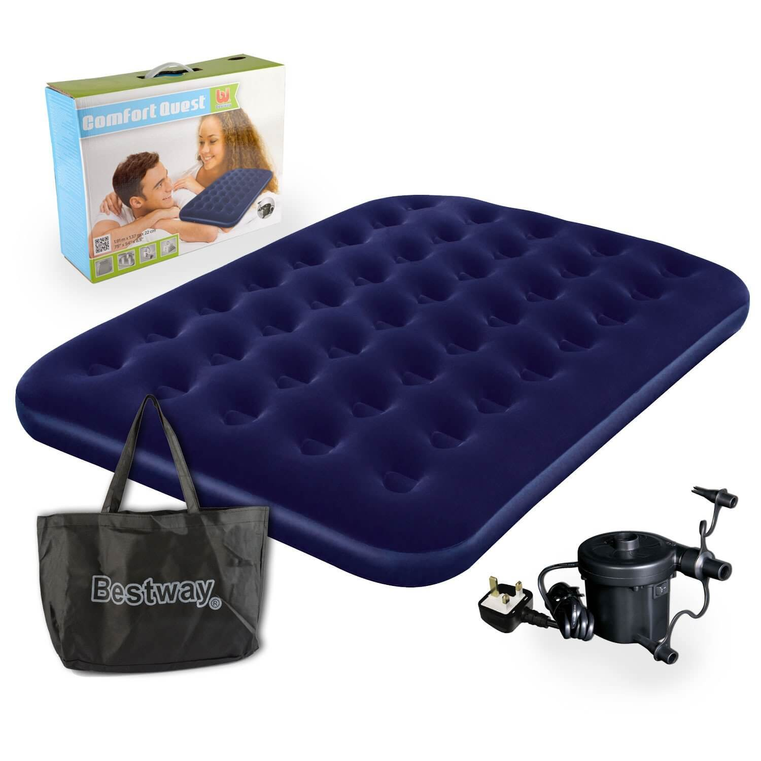 Bestway Comfort Quest Double Flocked Air Bed