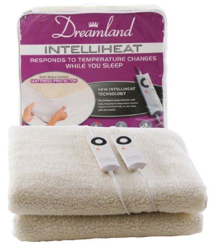 Dreamland Intelliheat Heated Fleecy Double Dual Mattress Protector