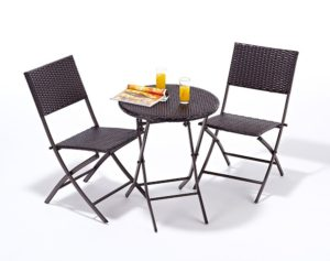 Port Royal Luxe Rattan 2 Seater Bistro Set