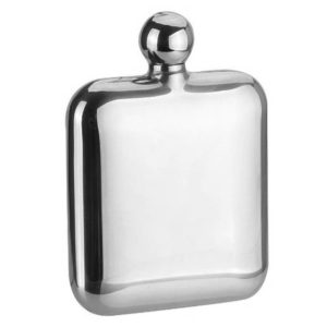 SAVAGE 6oz Hip Flask Round Lid 18-8 Stainless Steel Mirror Finished