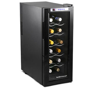 Sommelier 12 Bottle Wine Cellar Black