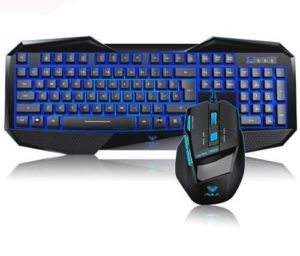 Aula Bundles Blue LED Keyboard Mouse