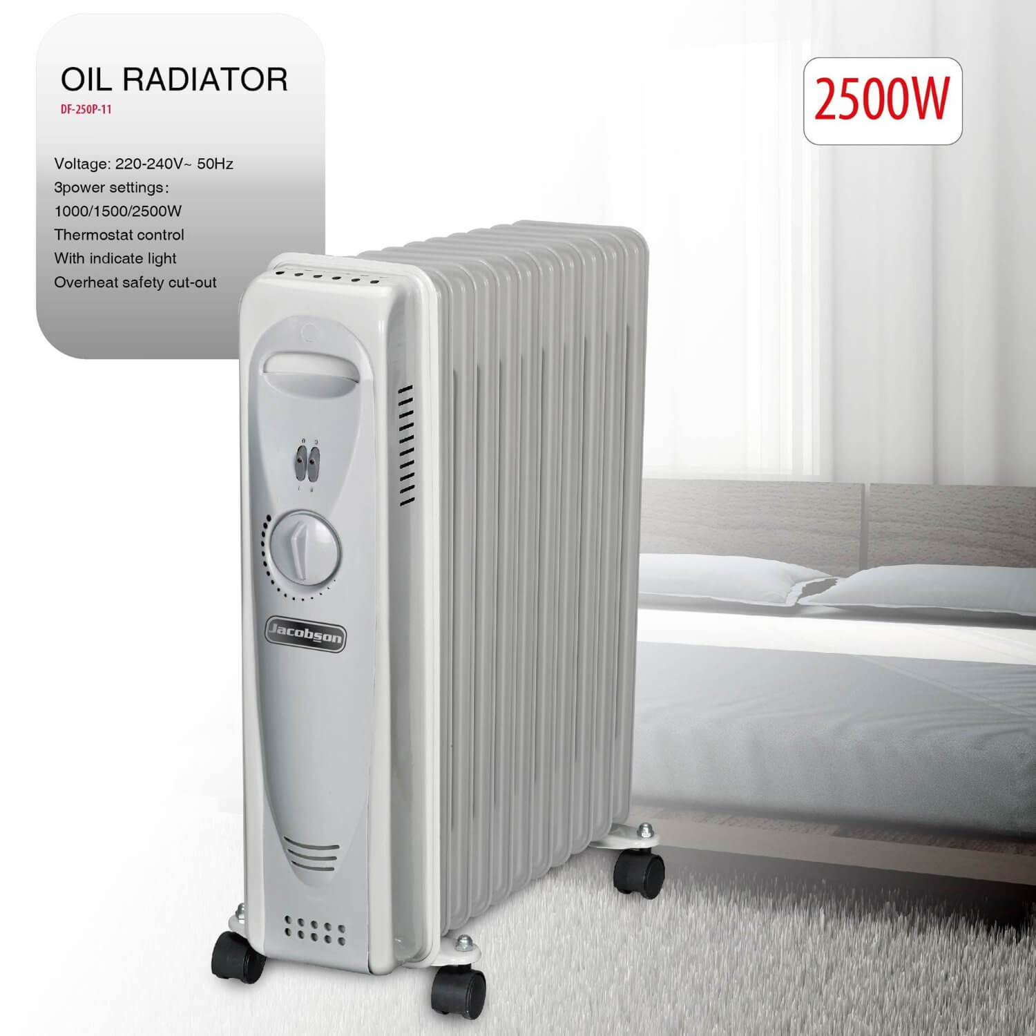 Jacobson 2500 Watt Oil Filled Radiator
